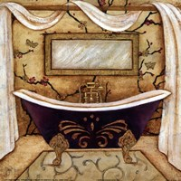 PURPLE PASSION BATH I Framed Print