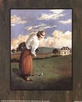 Victorian Golfer - Woman Fine Art Print