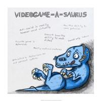 Videogame A Saurus Fine Art Print