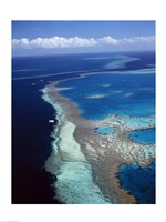 Aerial view of a coastline, Hardy Reef, Great Barrier Reef, Whitsunday Island, Australia Fine Art Print