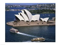High angle view of an opera house, Sydney Opera House, Sydney, Australia Fine Art Print