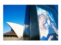Poster in front of an opera house, Sydney Opera House, Sydney, Australia Fine Art Print