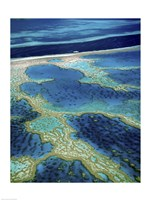 Aerial view of a coastline, Great Barrier Reef, Australia Fine Art Print
