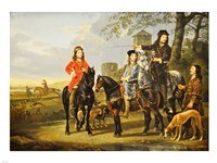 Aelbert Cuyp, Starting For  the Hunt Crop Fine Art Print