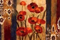 Ikat Floral Tapestry Fine Art Print