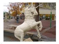 Unicorn Statue Fine Art Print