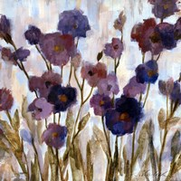 Abstracted Florals In Purple Fine Art Print
