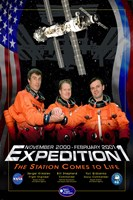 Expedition 1 Crew Poster Fine Art Print
