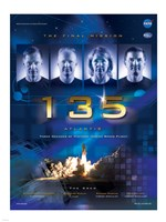 NASA STS-135 Official Mission Poster Fine Art Print