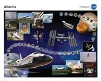 Space Shuttle Atlantis Tribute Poster Fine Art Print