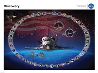 Space Shuttle Discovery Tribute Poster Fine Art Print