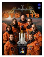 STS 118 Mission Poster Fine Art Print