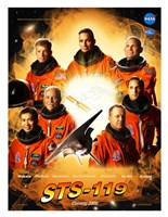 STS 119 Mission Poster Fine Art Print