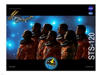 STS 120 Mission Poster Fine Art Print