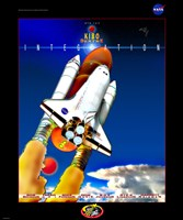 STS 123 Mission Poster Fine Art Print
