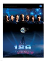 STS 126 Mission Poster Fine Art Print
