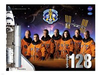 STS 128 Mission Poster Fine Art Print