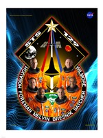 STS 129 Mission Poster Fine Art Print
