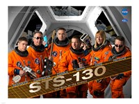 STS130 Mission Poster Fine Art Print