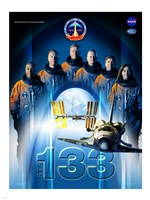 STS 133 Mission Poster Fine Art Print