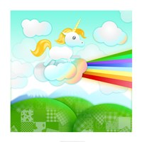 Rainbow Guide Unicorn Framed Print