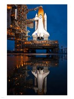 Atlantis STS-135 Rainwater Reflection on Pad Fine Art Print