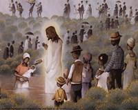 Black Baptism Fine Art Print