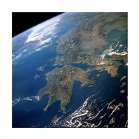 Greece from Space Fine Art Print