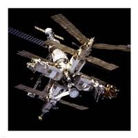Mir Space Station From Below Fine Art Print