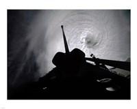 Orbiter Columbia Passes Over the Eye of Typhoon Owen Fine Art Print