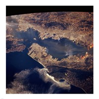 San Francisco taken from space by shuttle columbia Fine Art Print