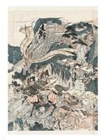 Samurai Battle II Framed Print