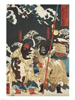 Samurai Triptych (Right) Framed Print
