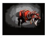T-rex Red Series Fine Art Print