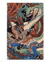 Kuniyoshi Utagawa, Suikoden Series Framed Print