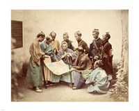 Satsuma samurai during boshin war period Fine Art Print