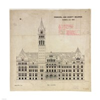 Municipal and County Buildings Toronto July 1887 Framed Print