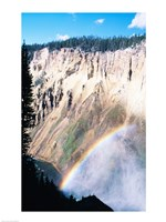 Rainbow over a canyon, Grand Canyon, Yellowstone National Park, Wyoming, USA Fine Art Print