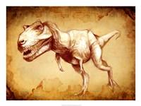 T Rex Sketch Fine Art Print