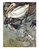 Alice in Wonderland, The Pool of Tears Fine Art Print