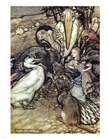Alice in Wonderland, But who has won Fine Art Print