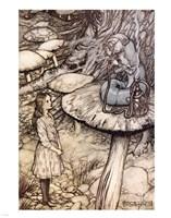 Alice in Wonderland, Advice from a Caterpillar Fine Art Print