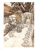 Alice in Wonderland A Mad Tea Party Framed Print
