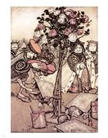 Alice in Wonderland, Turn them over Fine Art Print