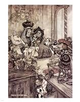 Alice in Wonderland, Who stole the Tarts Fine Art Print
