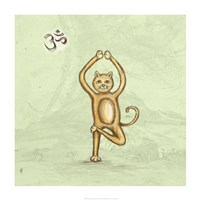 Yoga Cat III Framed Print