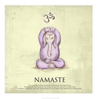 Elephant Yoga, Namaste Pose Framed Print