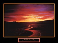 Goals - Sunset Road Framed Print