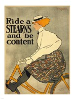Ride a Stearns Bicycle Fine Art Print