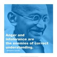 Gandhi - Intolerance Quote Fine Art Print